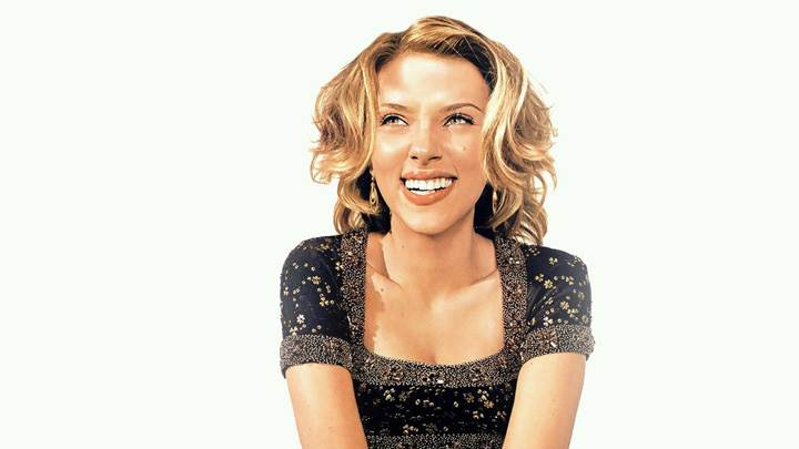 Scarlett Johansson Laughing Photoshoot